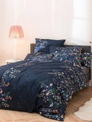 Estella pościel satyna de luxe Gabrielle nachtblau 1065 200x220