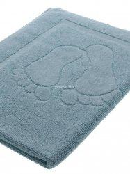 Dywanik ręcznik łazienkowy stopki błękit