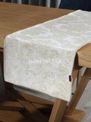 Bieżnik żakardowy perła 40x140