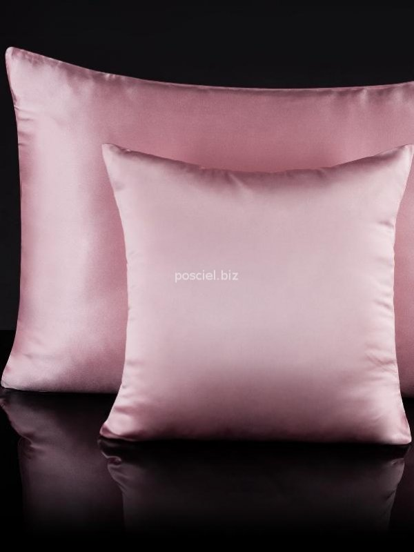 Malbery jedwabna poszewka na poduszkę candy pink 40x40, 40x60, 50x70, 70x80