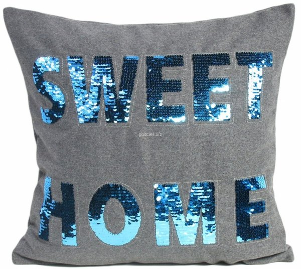 Poszewka filcowa cekiny Sweet Home 45x45