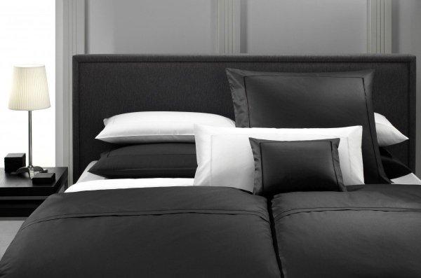 Elegante pościel bawełniana egipska czarna i biała 135x200