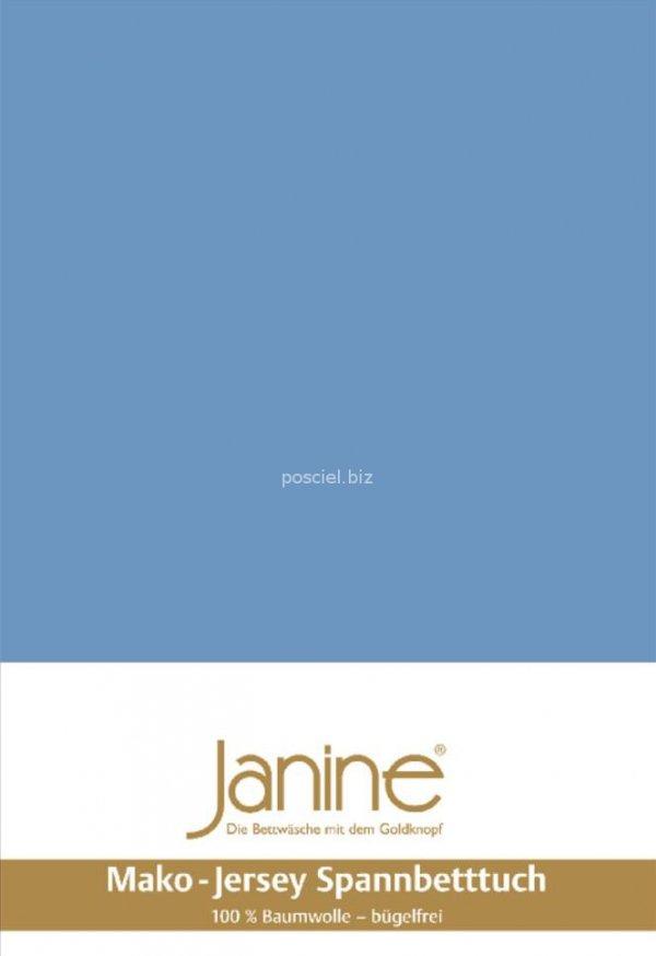 Janine prześcieradło jersey z gumką blau
