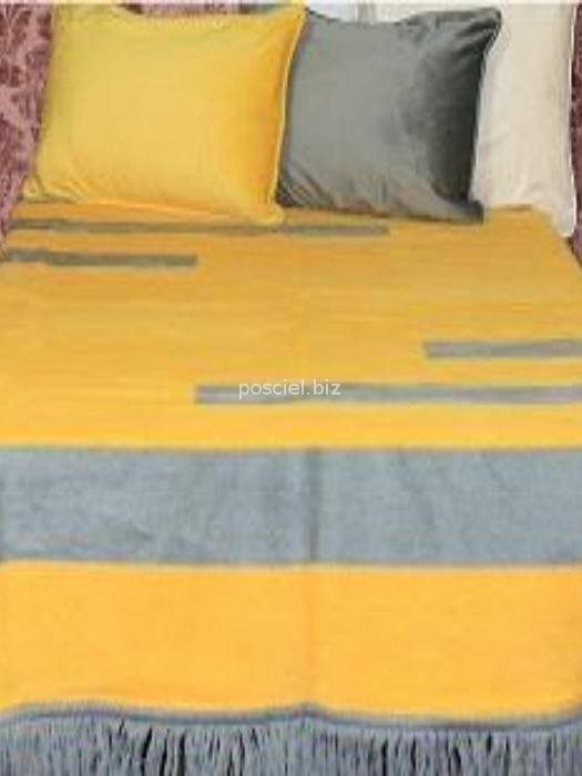 Koc Lemon żółto-szary 150x200