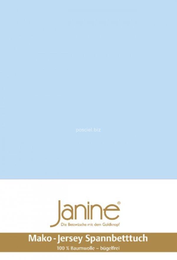 Janine prześcieradło jersey z gumką hellblau