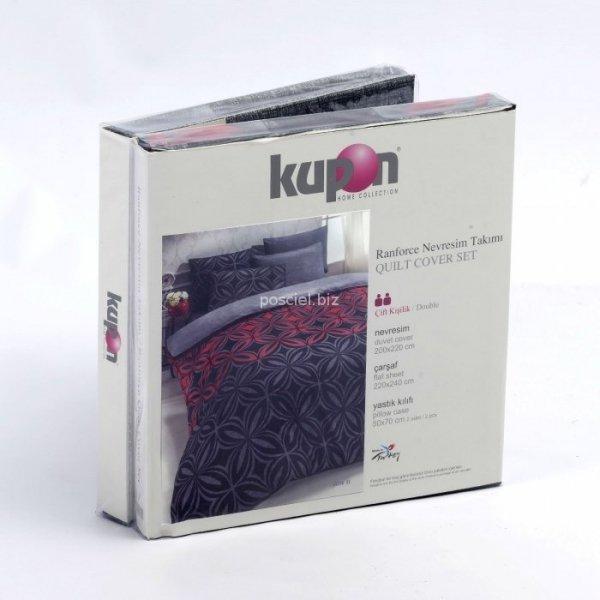 Kupon pościel bawełniana Jarden black 200x220