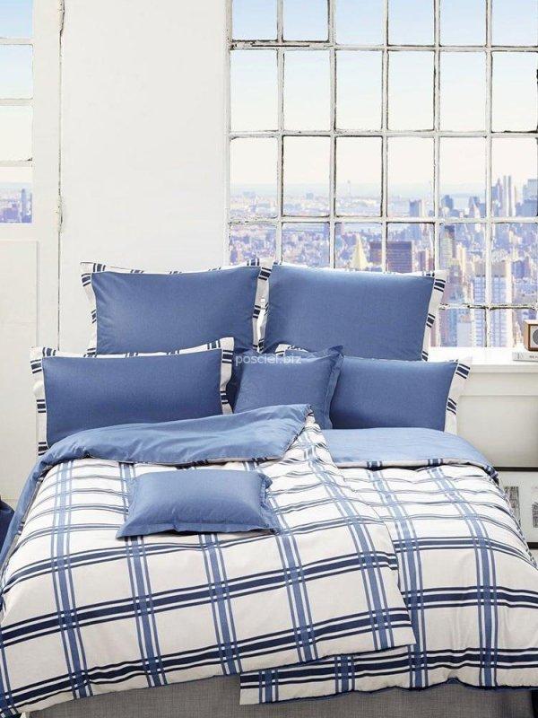 Elegante pościel bawełniana egipska Brooklyn blue 2123 155x200