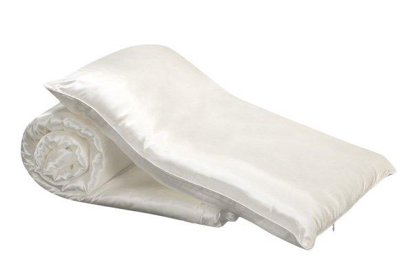 Zestaw: kołderka dziecięca jedwabna 100x135+poduszka 40x60
