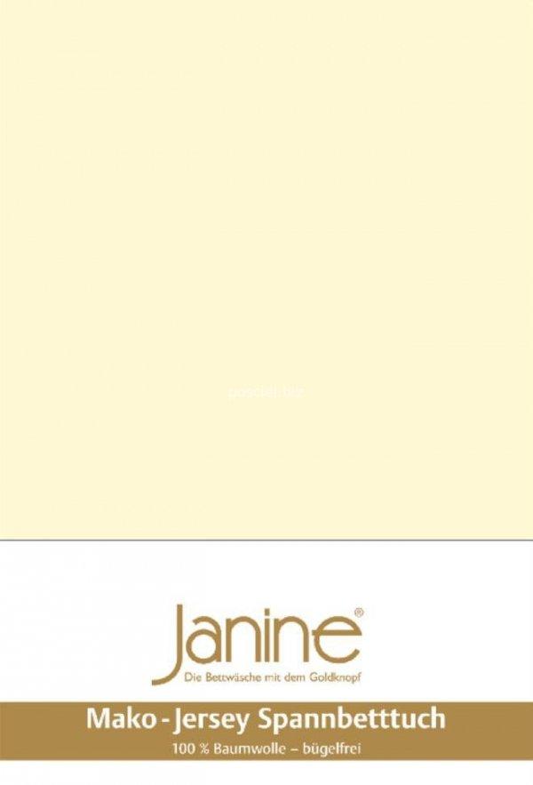 Janine prześcieradło jersey z gumką champagner