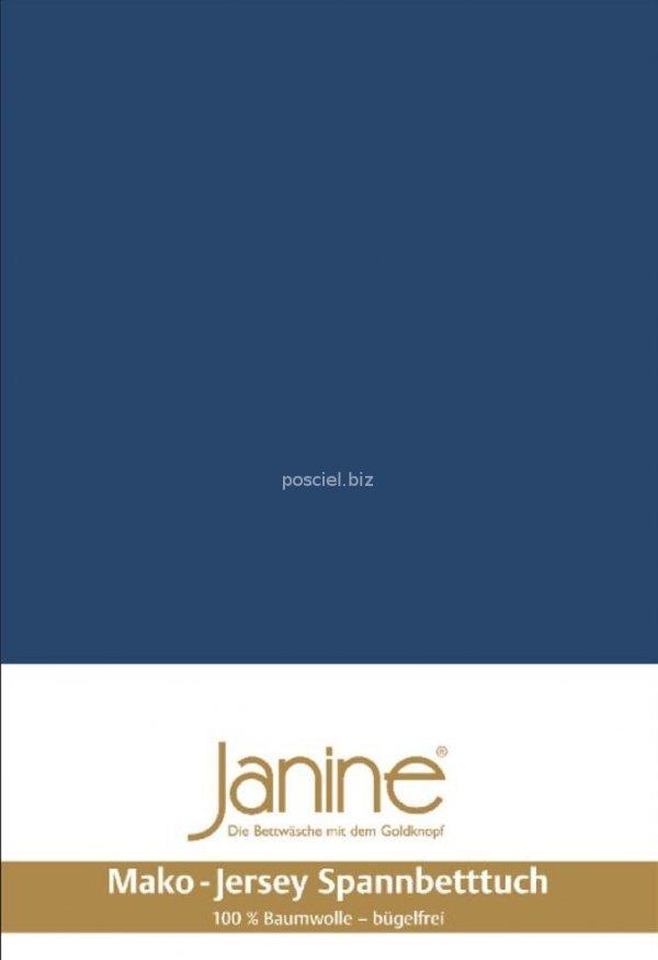 Janine prześcieradło jersey z gumką marine