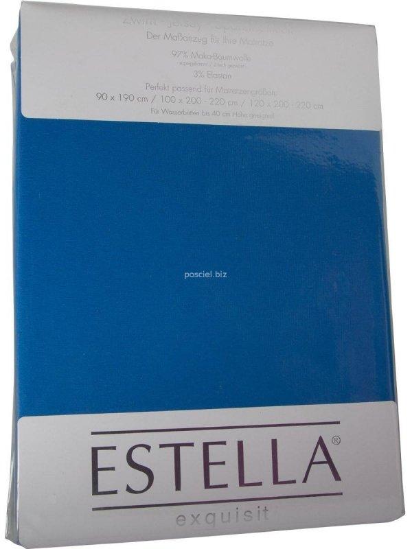 Prześcieradło zwirn-jersey z gumką Estella royal