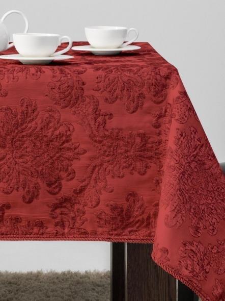 Zasłona żakardowa czerwień 135x270