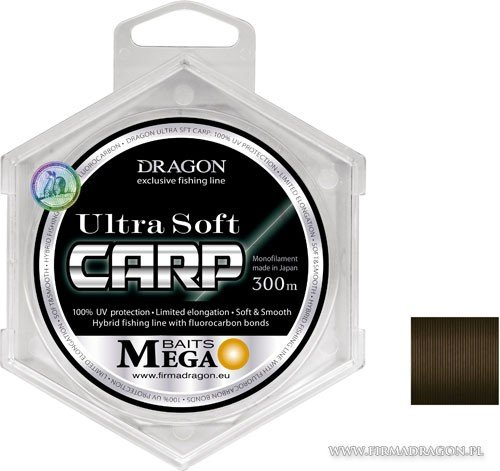 yłka DRAGON MegaBAITS Ultra Soft Carp 300 m / Momoi 0.28 mm/6.80 kg
