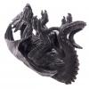 gadżety i prezenty w stylu fantasy - stojak na wino w kształcie leżącego czarnego smoka