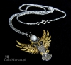naszyjnik Sowa Ateny z serii: Bestiariusz, biżuteria magiczna i gotycka, talizman Mądrość