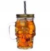 słoik z rurka do napojów - kubek z pokrywką czaszka