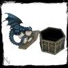 Roost of Cryondrix - duża otwierana szkatułka na biżuterię ze smoczycą