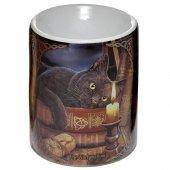 Kot Godzina Czarownic - kominek podgrzewacz do olejków