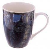 Kot i Magiczna Miotła - porcelanowy kubek z nadrukiem projekt: Lisa Parker
