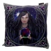 Mroczny Anioł z kryształową kulą - poszewka na poduszkę