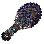 Fioletowy Paw - składane lusterko z rączką