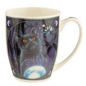 Kot Uczeń Czarownicy - porcelanowy kubek z nadrukiem projekt: Lisa Parker