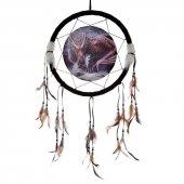 Przymierze Smok i Wilk - łapacz snów z obrazkiem Lisy Parker, 33cm