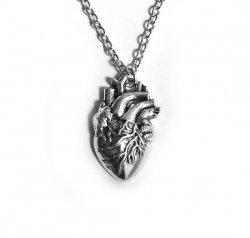 Serce anatomiczne - naszyjnik