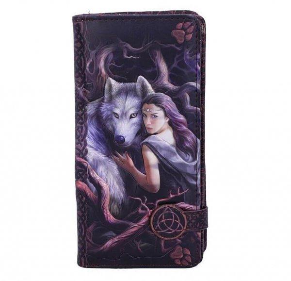 """Duchowa Więź """"Soul Bond"""" Anne Stokes Nemesis Now - wytłaczany portfel z wilkami"""