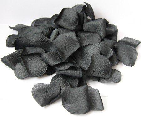 dekoracyjne płatki róży czarne - opakowanie 100 sztuk