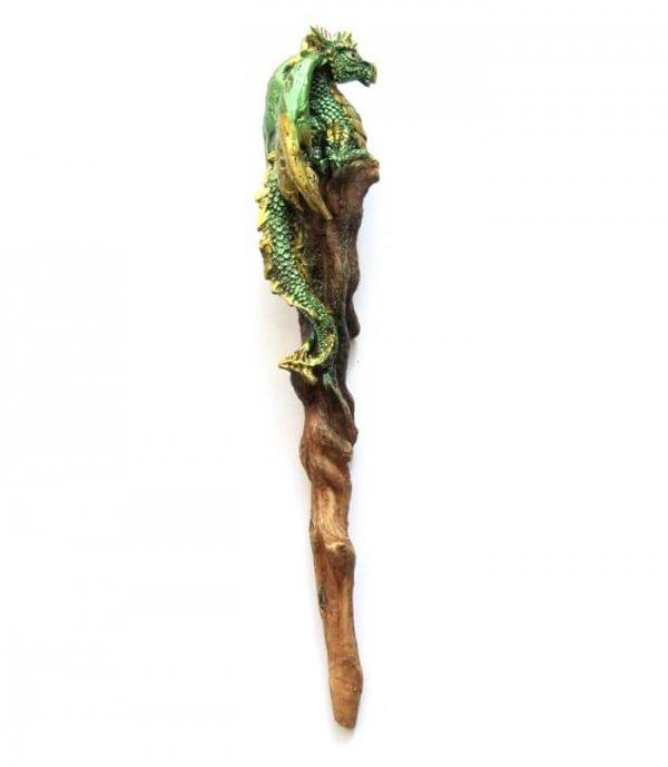 """magiczna różdżka z Zielonym Smokiem - """"Argan Wand"""" Nemesis Now"""