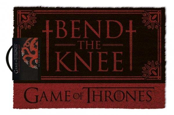 """Gra o Tron - Game of Thrones """"Bend the Knee"""" - wycieraczka z napisem"""