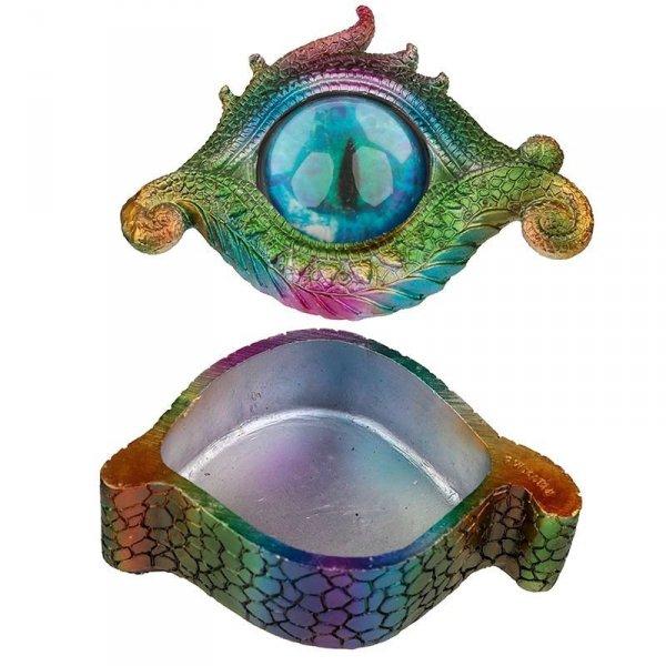szkatułka na biżuterię Smocze Oko Tęczowe Dragon Eye