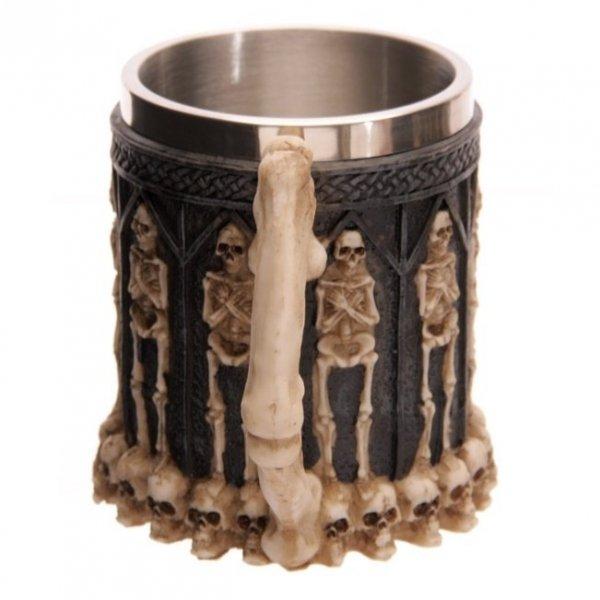 gotycki kufel - kubek ze szkieletami