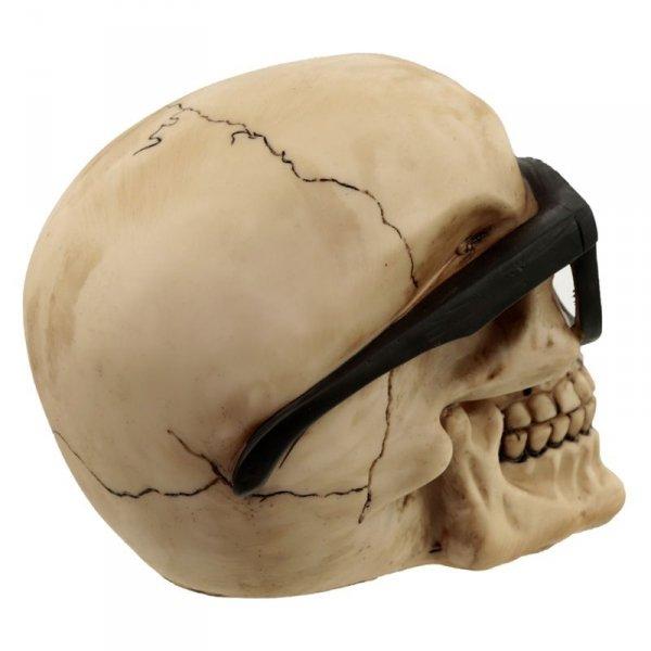 """figurka dekoracyjna czaszki w okularach - """"Czaszka Okularnik"""""""