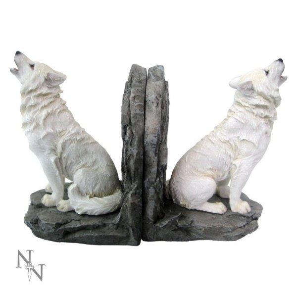 """gadżety i prezenty z wilkami - podpórki do książek """"Białe Wilki"""""""