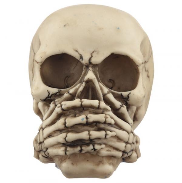 """3 czaszki figurki """"Nic nie słyszę, nic nie mówię, nic nie widzę..."""""""