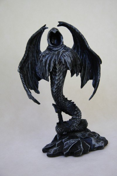 prezenty i gadżety w stylu gothic fantasy - świecznik Smoczy Duch duch smoka
