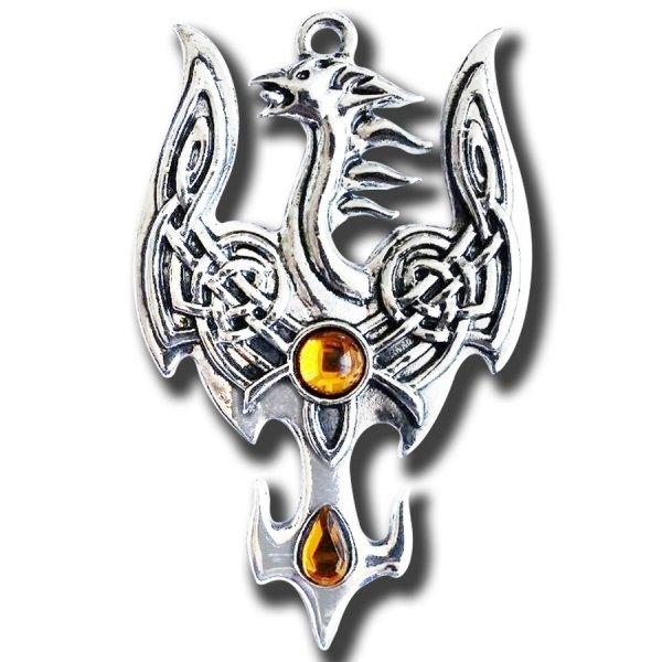 Feniks z Avalonu, naszyjnik biżuteria magiczna talizman Podróże Pomiędzy Światami