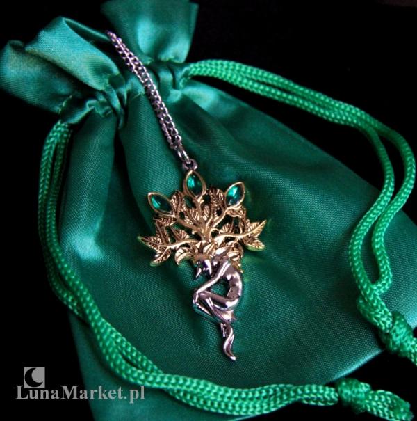 """naszyjnik """"Mandragora"""" Alrauna z serii: Bestiariusz, biżuteria magiczna i gotycka"""