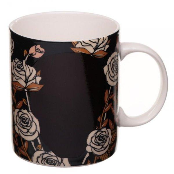 """porcelanowy kubek termiczny zmieniający kolor """"Czaszka i Róże"""""""