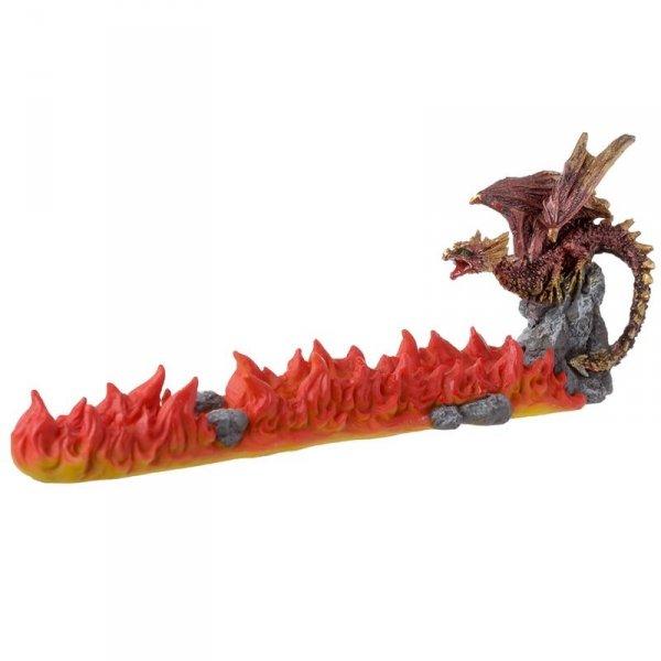 podstawka na kadzidła długie - kadzielniczka Czerwony Smok i Wulkan