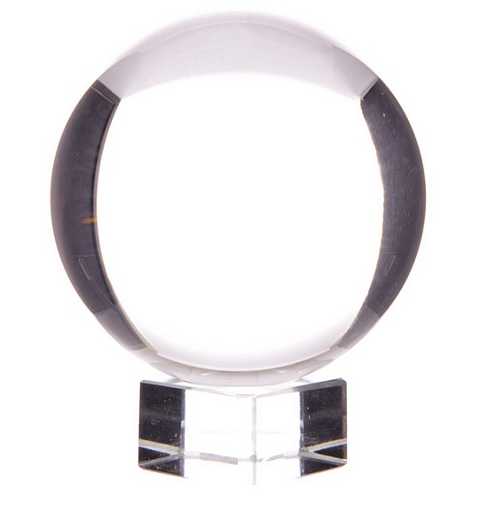 szklana kula kryształowa do wróżenia rozmiar 7,5 cm ze szklaną podstawką