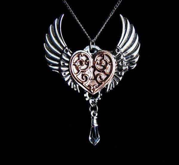 Serce Walkirii seria Engineerium od Anne Stokes - steampunkowa biżuteria