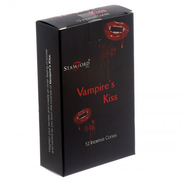 """magiczne czarne kadzidełka - stożkowe kadzidła """"Pocałunek Wampira"""", marka Stamford"""