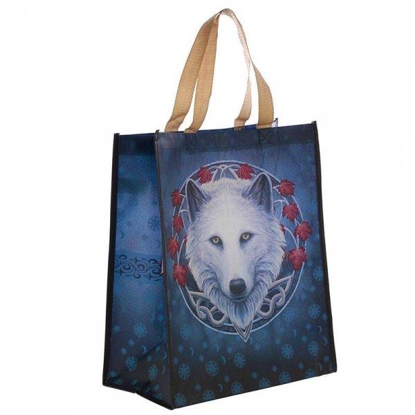 torebka zakupowa, prezentowa z magicznym Białym Wilkiem