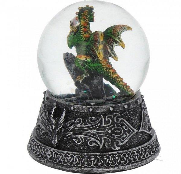 Zaczarowany Zielony Smok Emerald - kula śniegowa