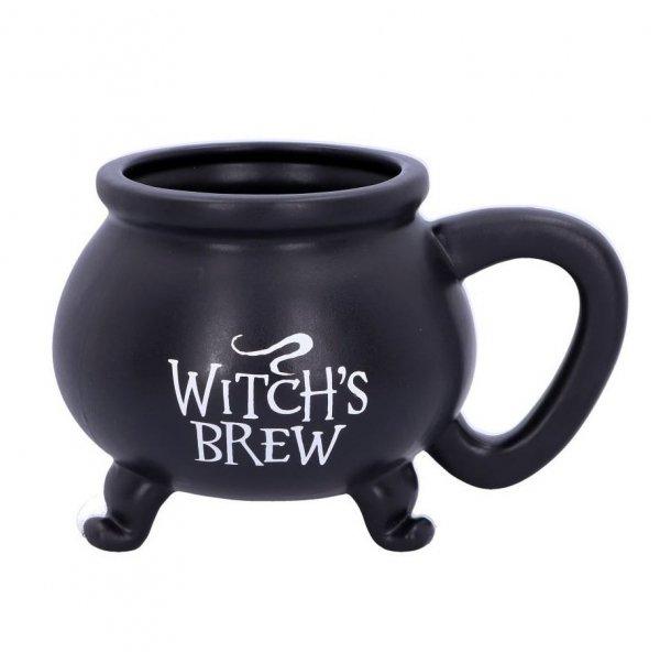 """czarny kubek, magiczny kociołek czarownicy """"Napar Wiedźmy"""" """"Witch's Brew"""""""