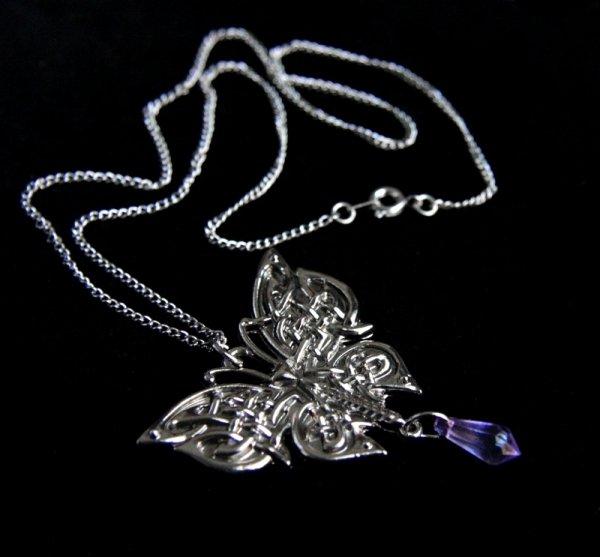 """celtycki naszyjnik """"Ćma Morrigan"""", biżuteria magiczna i gotycka"""