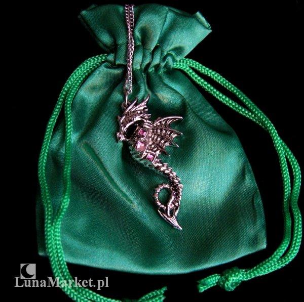 """naszyjnik """"Smok Morski"""" z serii: Bestiariusz, biżuteria magiczna i gotycka"""